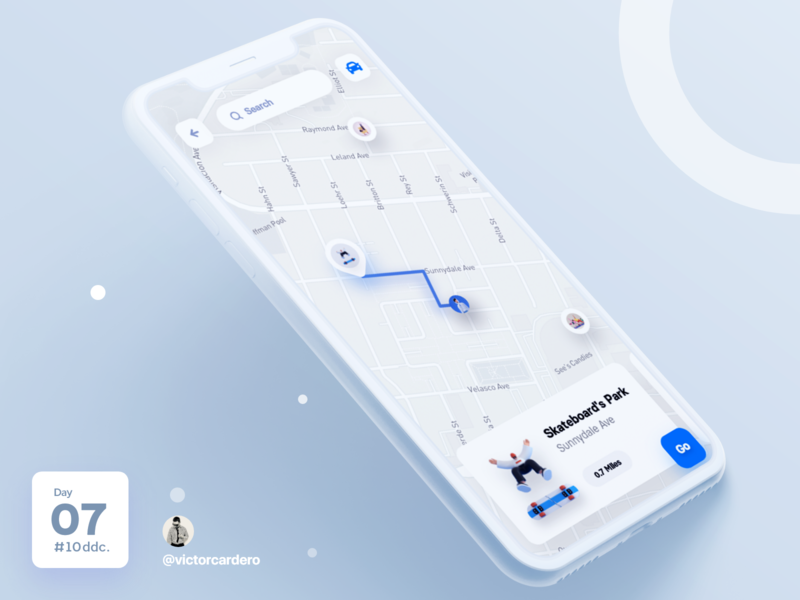 Day 07 UI Challenge uxdesign uidesign victorcardero 10ddc challenge mapping maple mapbox maps map design app mobile ux ui