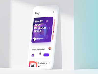 UI Blog Design card uidesign popular shot popular all web design product design design app mobile ux ui blog