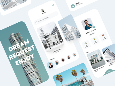 Realtors UI App design card e-comerce web app popular product design web design mobile app mobile sales realtor realtors ux design ui design