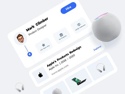 UI Job Cards stats app trending product web design product design apple popular ui ux card design mobile