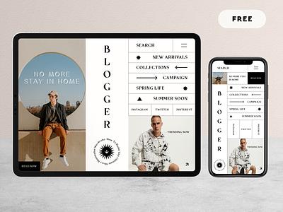Fashion Blog - Free Download product design web e-comerce app design mobile popular ecomerce landing page landing blogging blog fashion design fashion app fashion