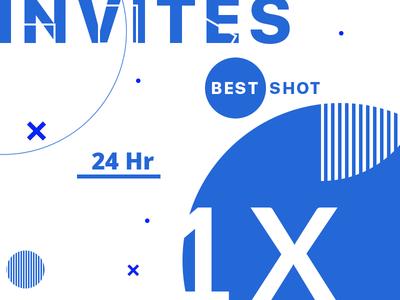 1X Dribbble Invite - CALLEGE ON 24 HOURS
