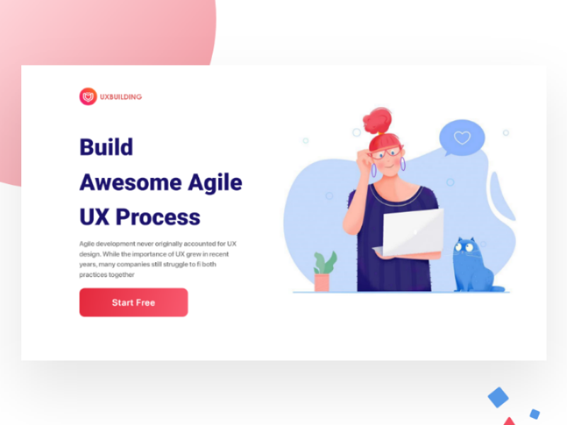 Agile UX Process Webdesign web ui ux process trending