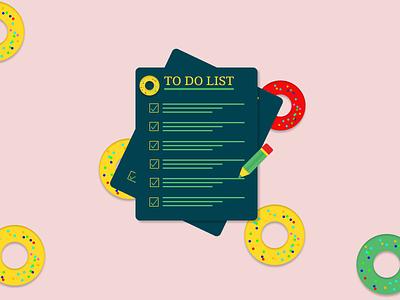TO DO LIST branding vector illustration ui design