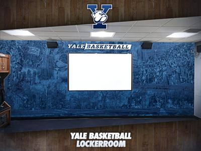 Yale University Basketball Locker Rooms Wall Art photo manipulation wall art print design sports basketball