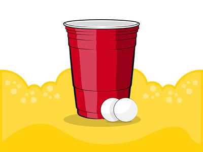 Summer Life logo college illustration beer