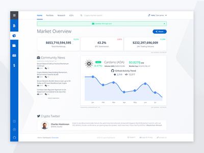 Blockchain Dashboard web ux user ui task interface dashboard crm clean chart app