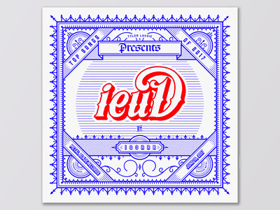 Songs of 2017 - ieuD by IGORRR teeny tiny type decorated vintage typography illustration music