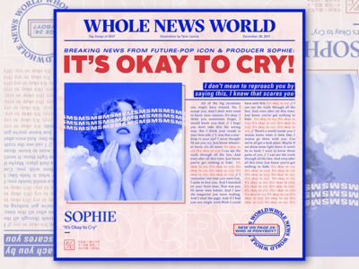 Songs of 2017 - IT'S OKAY TO CRY by SOPHIE teeny tiny type typography editorial ui illustration pink music