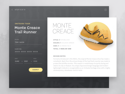 Daily UI 002 - Credit Card Checkout teeny tiny type yellow sneakers ui credit card checkout 002 daily ui