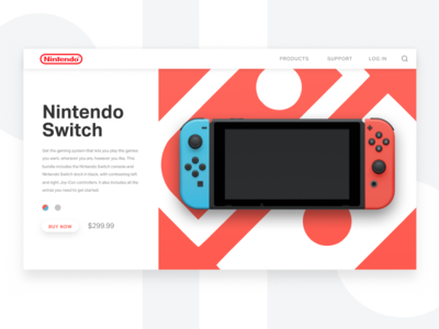 Daily UI 012 - Product Page (Still) nintendo desktop ui product page 012 dailyui