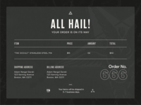DailyUI 018 - Email Receipt