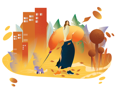 Sweet Autumn! design noise texture flat character creative illustration character adobeillustrator