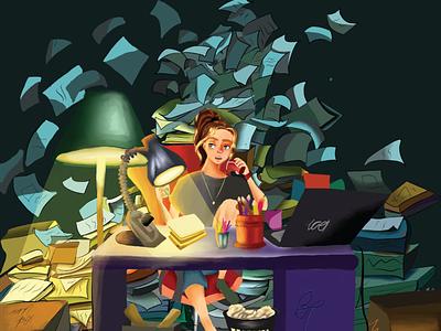 hustle life! creative graphic design cartoon original character character illustration