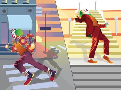 joker! graphic design movie flat character vector art joker adobeillustrator illustration