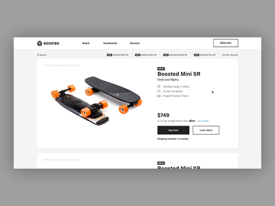 Boosted Boards Page Transition store ae after effect website transition animation ui