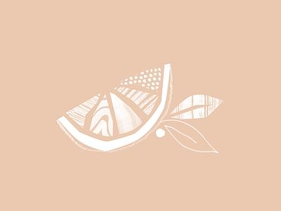 Mandarin Orange concept collage texture hand drawn