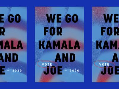 GO FOR KAMALA AND JOE blue texture poster design kamala harris voting joe biden democratic vote