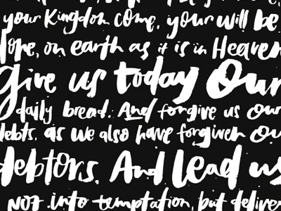 Give Us Today brush lettering lettering