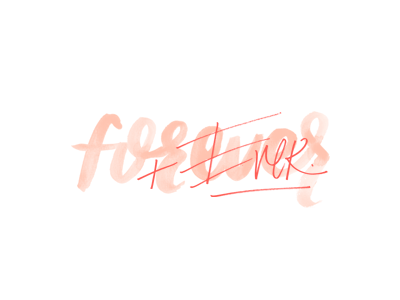 Forever layered type marker brush watercolor lettering