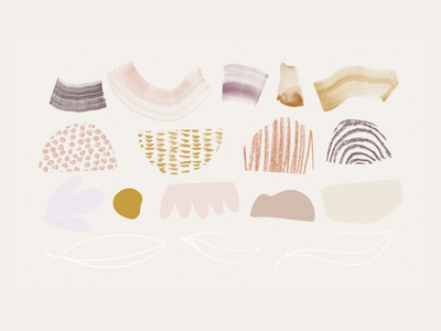 Shape Babies shapes illustration pattern branding concept watercolor hand drawn