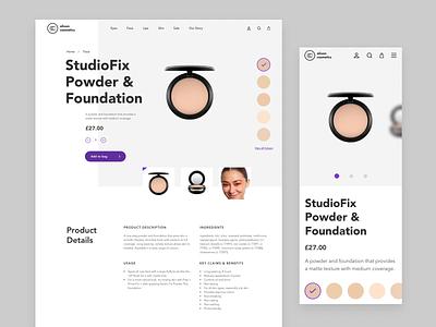 Alison Cosmetics - Recap cosmetics online shop beauty logo london skincare beautiful beauty web design ui design logo branding
