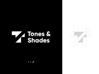 Tones & Shades Combination Mark monogram logo vector london logodesign logo gridding logo grid branding logo