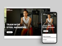 Steel Warriors Charity Gym - Training Page (Desktop x Mobile)