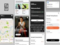 Steel Warriors - Mobile Collage london laydown mobile design gym app gym appdesign ux design web design ui design