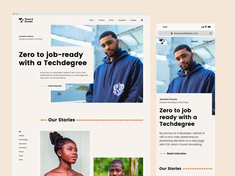 Tones & Shades - A Digital Magazine For Black Creatives