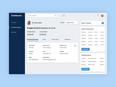 Banking Web App Dashboard - Activate Card ux design ui animation bank app banking london animation dashboard ui dashboad web design ui design