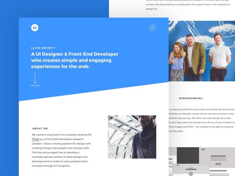 Portfolio Design 2016  work developer front-end ui designer case studies design portfolio