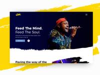 Vocals & Verses Website v2 2017 live music spoken word art iteration poetry music ui design ui web design