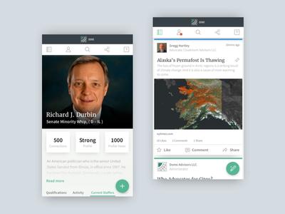 User Profile & Social Feed Design