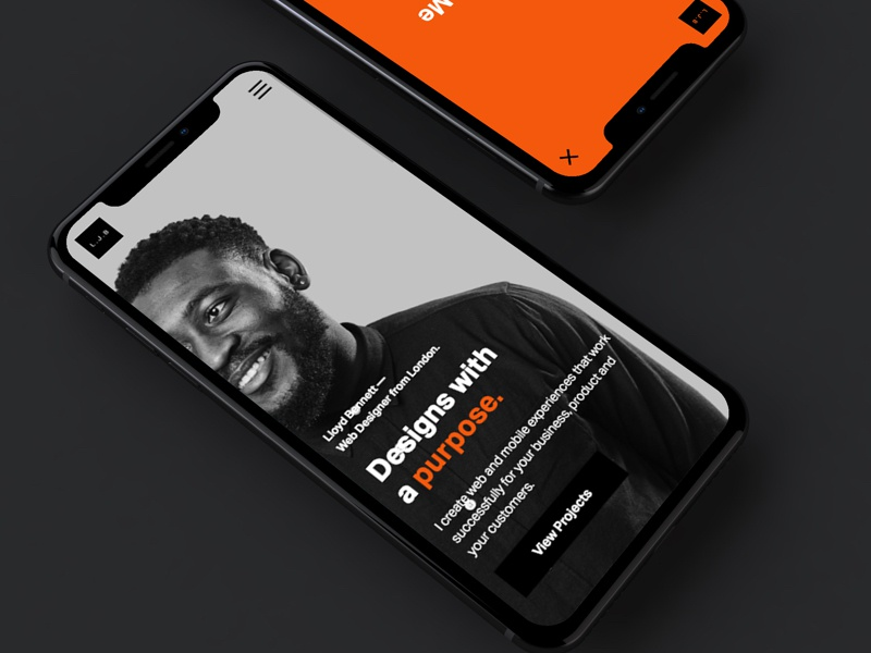 L.J.B 2018 - Responsive Mobile (iPhone X) ui design iphone x visual design iphone portfolio ux ui design web design