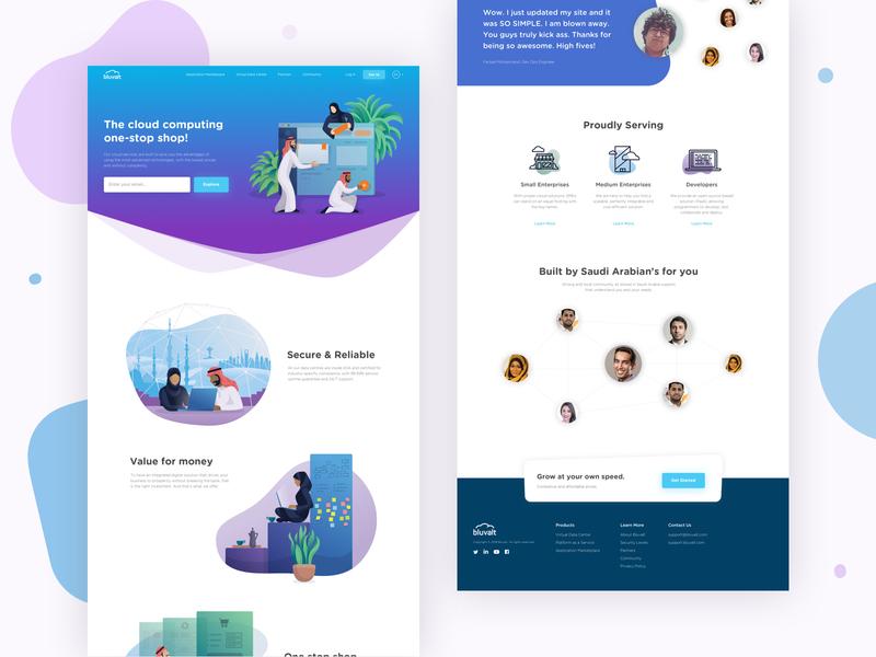 Bluvalt Homepage Refresh ux design app cloud computing marketing ui design design sketch illustration landing page web design