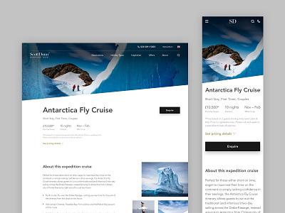 Luxury Cruise Page - Responsive Web travel agency boats cruise holiday travel ux design ui london landing page web design design ui design