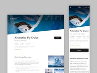 Luxury Cruise Page - Responsive Web