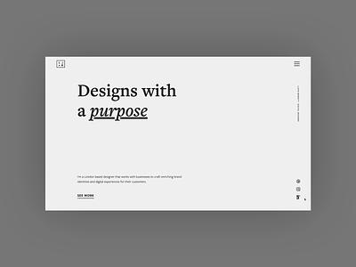 New Portfolio Site - 2019 illustration portfolio animation landing page london ux design web design design ux ui ui design