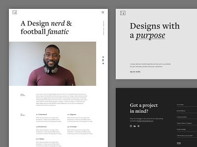 L.J.B 2019 web ux design portrait london landing page clean portfolio web design design ux ui design