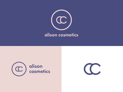Alison Cosmetics typography visual design identity design combination mark logotype branding logo logodesign