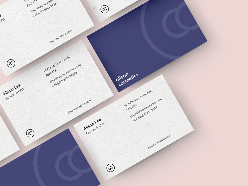 Alison Cosmetics - Business Cards