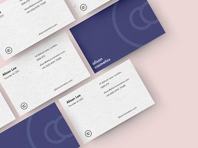 Alison Cosmetics - Business Cards print marketing logo brand identity branding businesscard business card