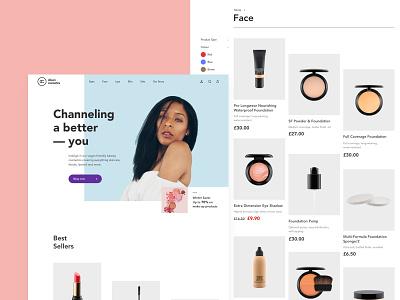 Alison Cosmetics - Online Cosmetics Store cosmetics clean ux design beauty shop e-commerce branding ui design london landing page