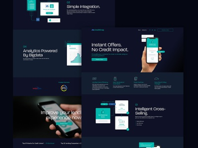 CreditSnap Design icon logo branding design infographics illustration content ui layout webdesign