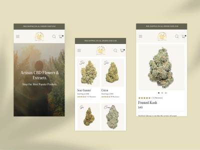 A New Website for Secret Nature shop page landing page listing page pdp plp mobile secret nature cannabis cbd ecommerce ui web design design