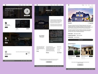 User Interface Design for Composite Property Development Website branding design ux ui