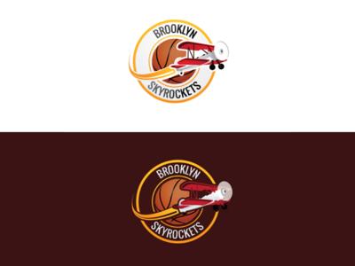 Brooklyn Skyrockets Basketball Logo Design