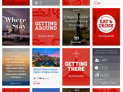 Auckland Travel Ideas Overview Page illustration ui typography layout flat travel