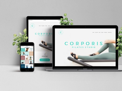 Corporis branding and web design studio pilates visualidentity website design webdesigner logo branding webdesign